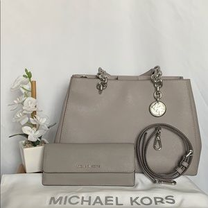 Michael Kors Medium Satchel w/ Matching Wallet